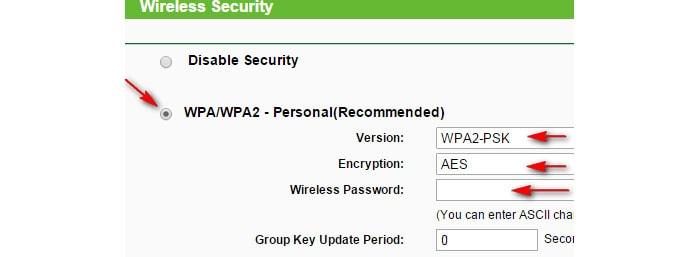 Отображение пароля от Вай-Фая в настройках роутера