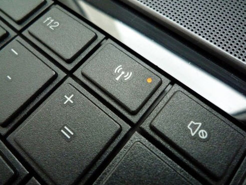 Еще вариант расположения индикатора Вай-Фая на ноутбуке