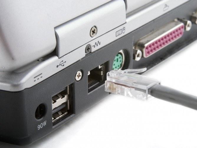 Подключение интернета к ноутбуку с помощью кабеля
