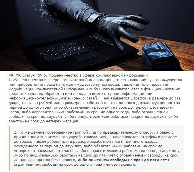 Уголовная ответственность за завладение конфиденциальных данных мошенническим путем