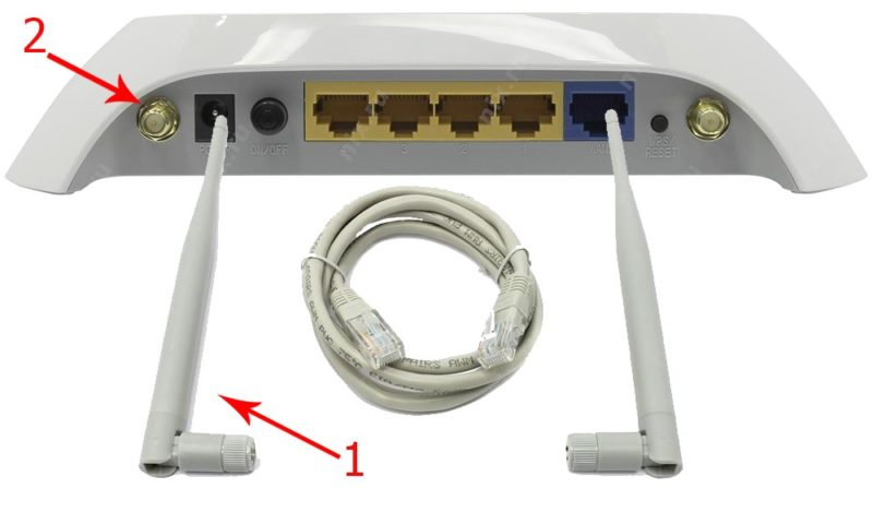 Подключаем антенны к роутеру