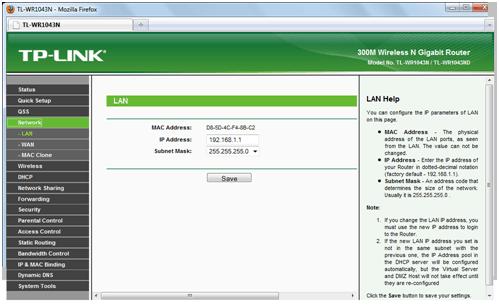 Настройка IP-адреса на роутере от Тп-Линк